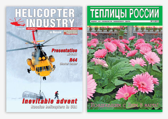 На фото изображен журнал и каталог отпечатанный в нашей типографии методом офсетной печати