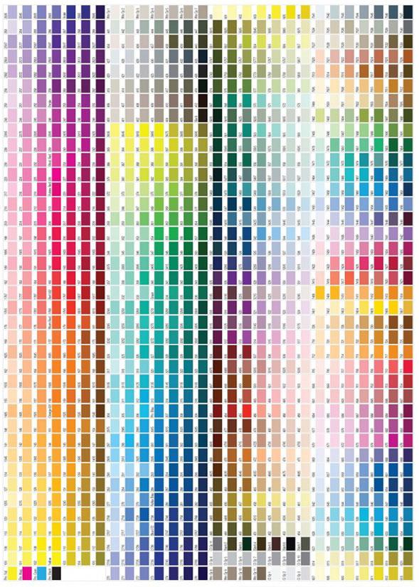 Правильное преобразование цветов из Pantone в CMYK