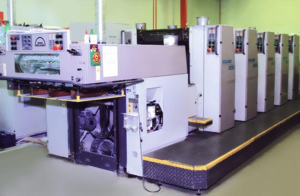 Печатная офсетная машина типографии