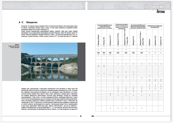Дизайн каталогов строительной организации с таблицей