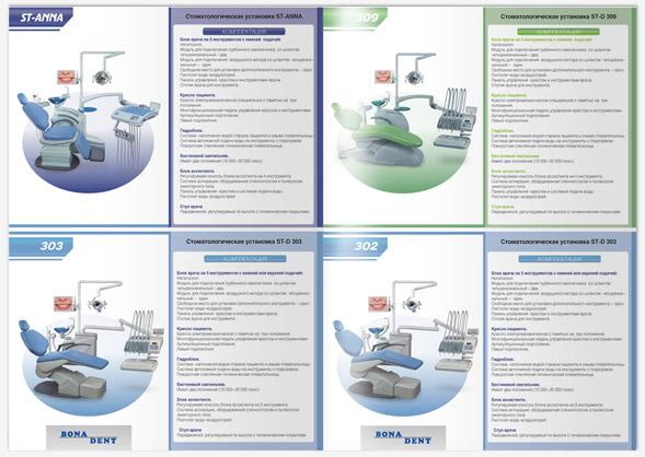 Дизайн каталогов стоматологической установки, разворот