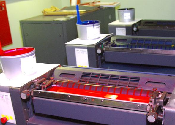 Офсетная печатная машина с краской