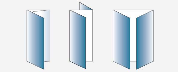 Дизайн буклета, варианты фальцовки