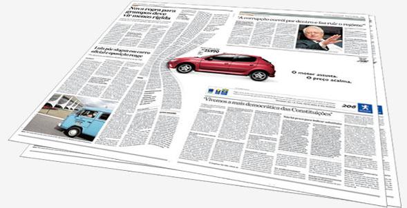 дизайне рекламы для газеты