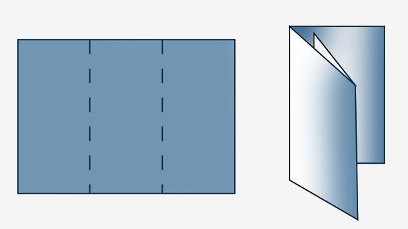 Складывание буклета в виде письма (улиткой)