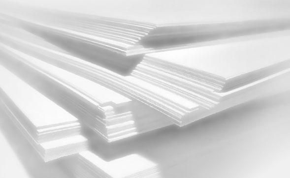 На фотографии изображена белая бумага