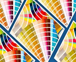 Игра с цветом в листовке