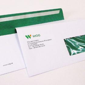 Печать конверта с окошком