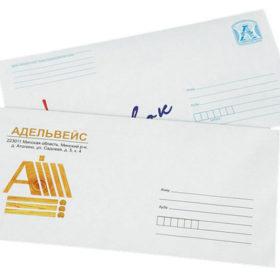 Печать евро конверта с логотипом