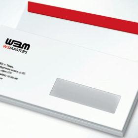 Печать евро конверта с логотипом и окном