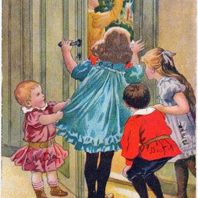 Открытка с изображением детей