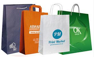 Разнообразие пакетов из бумаги