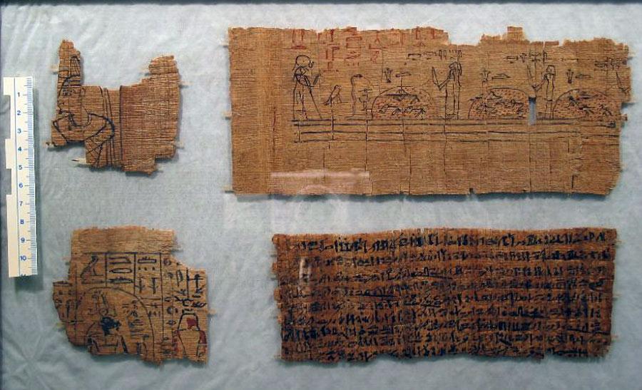 Папирус с текстом и изображением