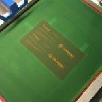 Процесс печати шелкографией