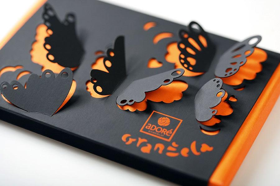 Упаковка визиток (лазерная резка) один из видов послепечатных услуг