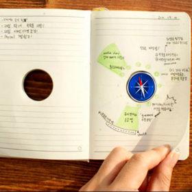 Дизайн ежедневника с компасом
