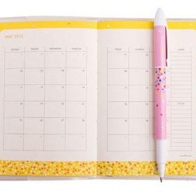 Оформление блока ежедневника для девушек