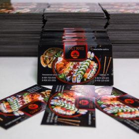 Печать рекламных магнитов на заказ для ресторана быстрого питания
