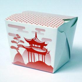 Печать упаковки с изготовлением под суши вок