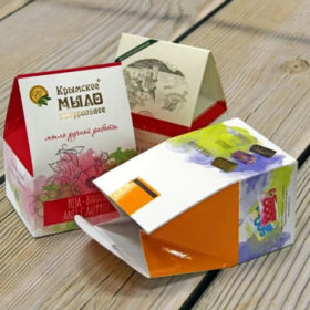 Изготовление упаковки из белого картона