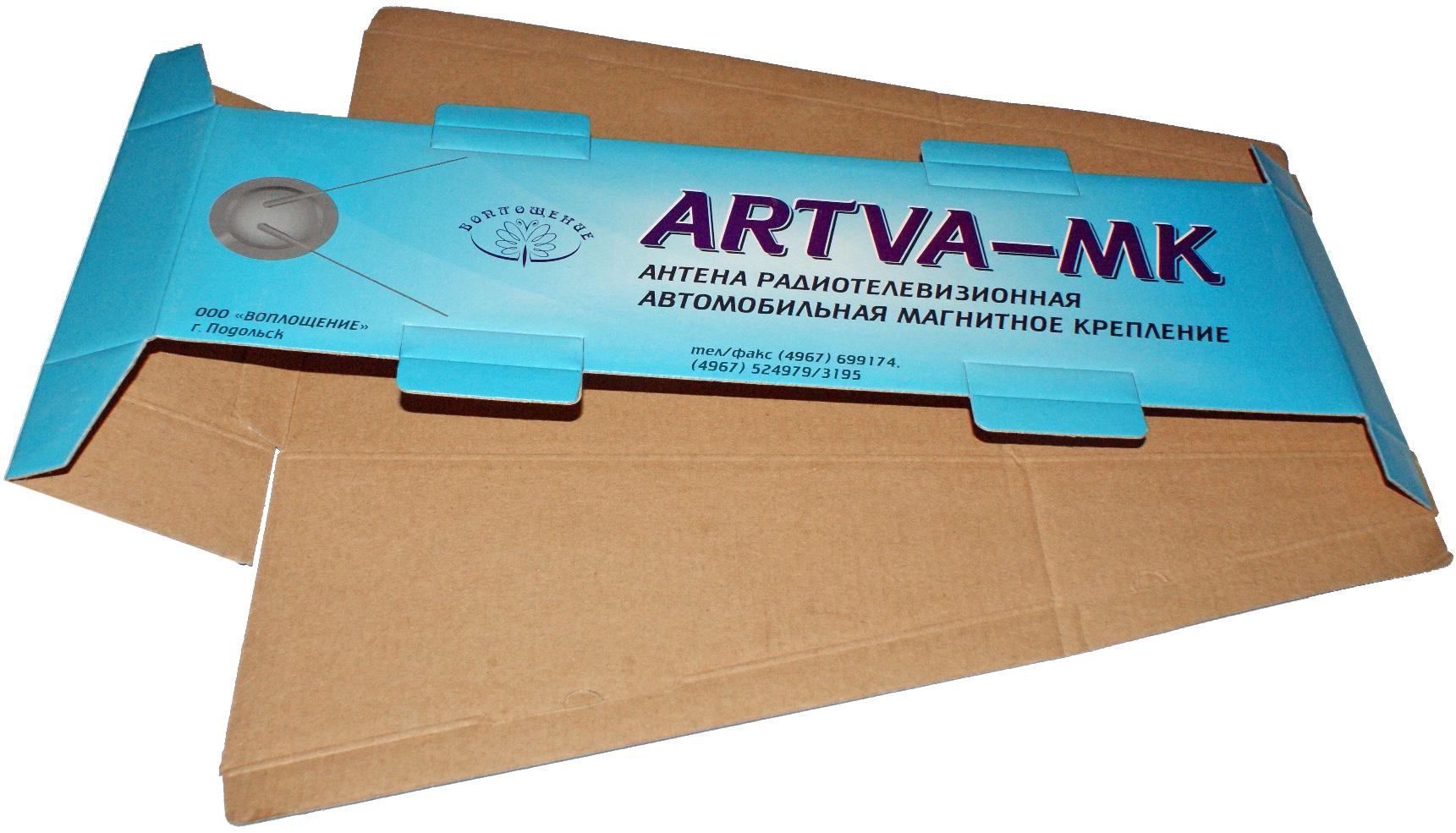 Кашированная упаковка (приклейка бумаги с изображением к картону)