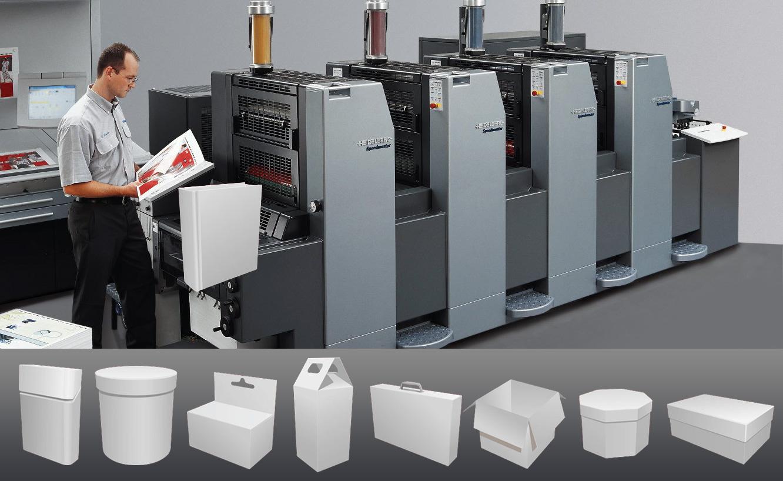 На офсетной машине можно легко напечатать любой тираж упаковки