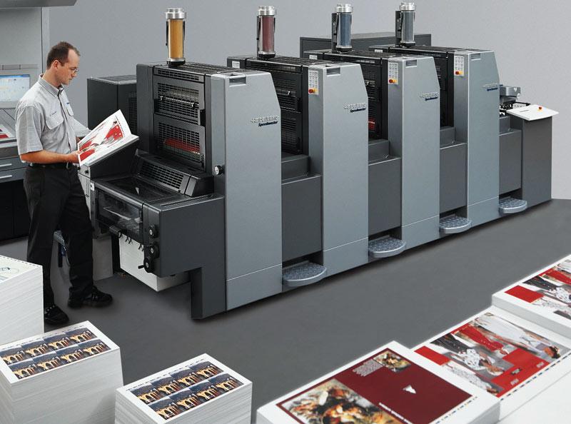 Офсетная печатная машина для печати больших тиражей листовок