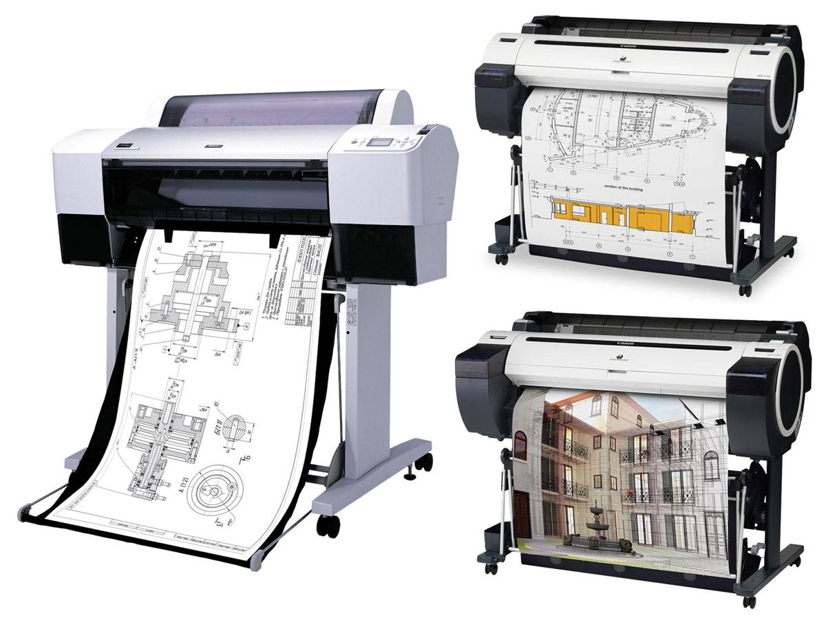 Черно-белый и цветной плоттер для печати чертежей
