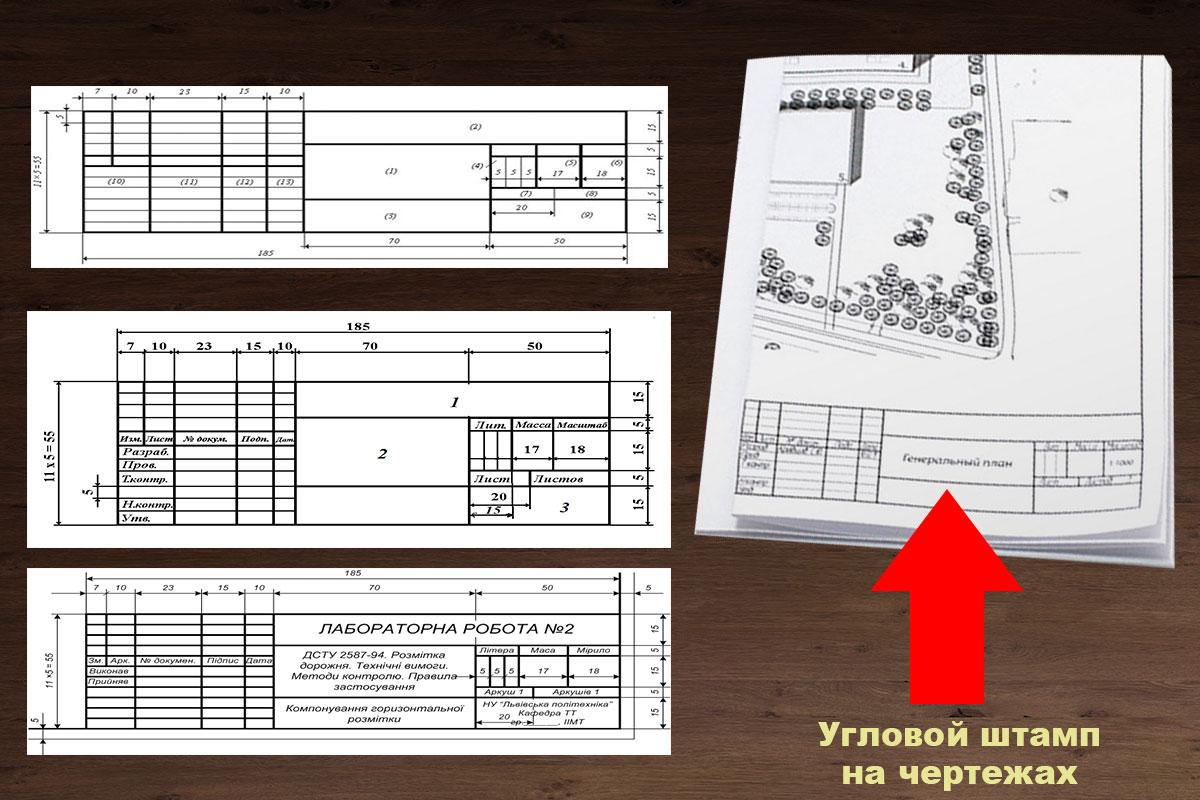 Правильное складывание чертежей угловым штампом в верх