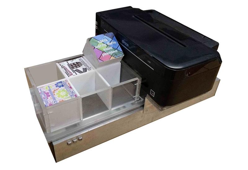 Самый популярный струйный принтер Epson  переделанный для печати на торцах.