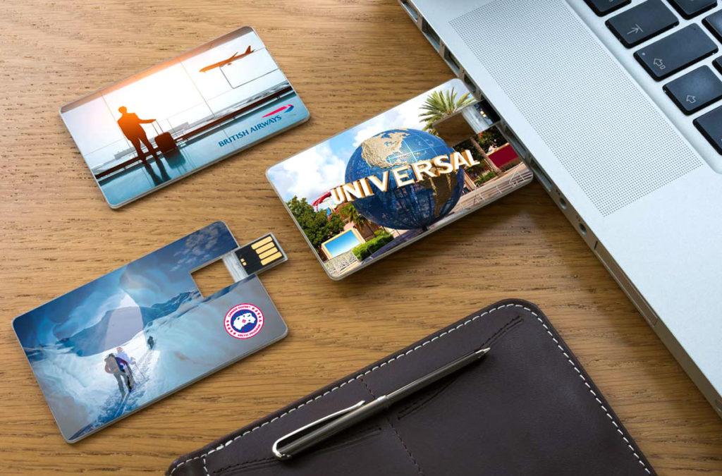 Флешка визитка как сувенир на память.