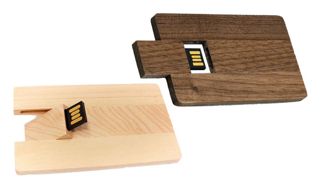 Деревянные флешки визитки.