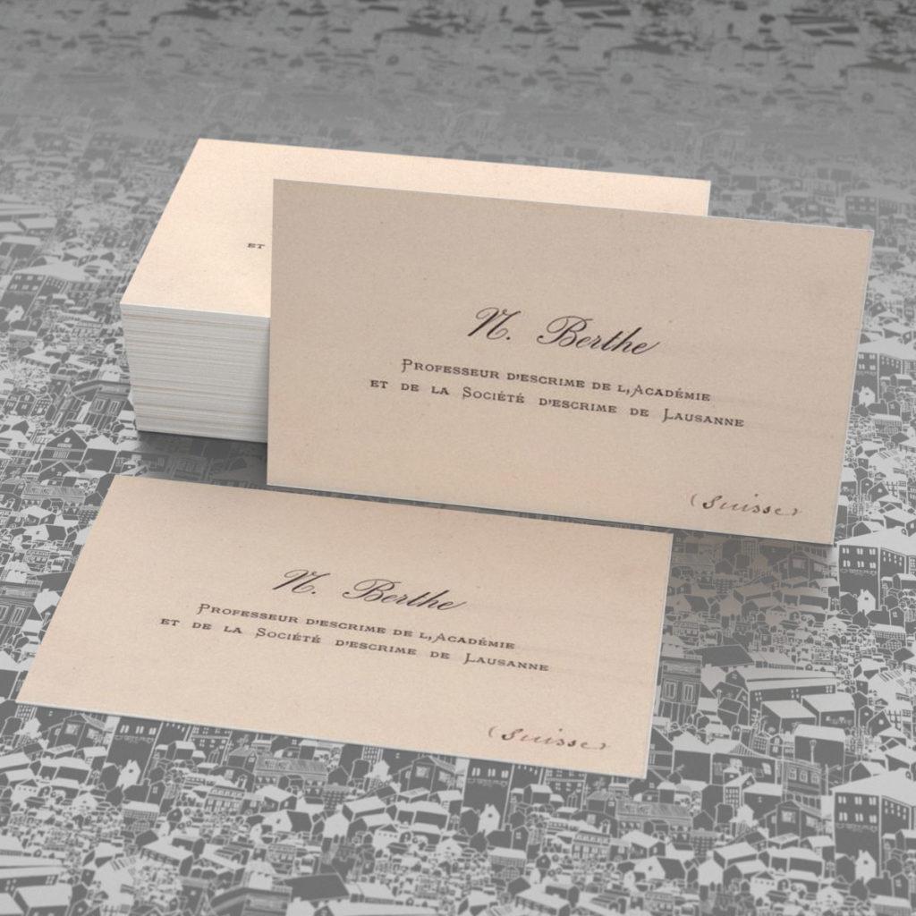 Ретро визитки, мнимализм.