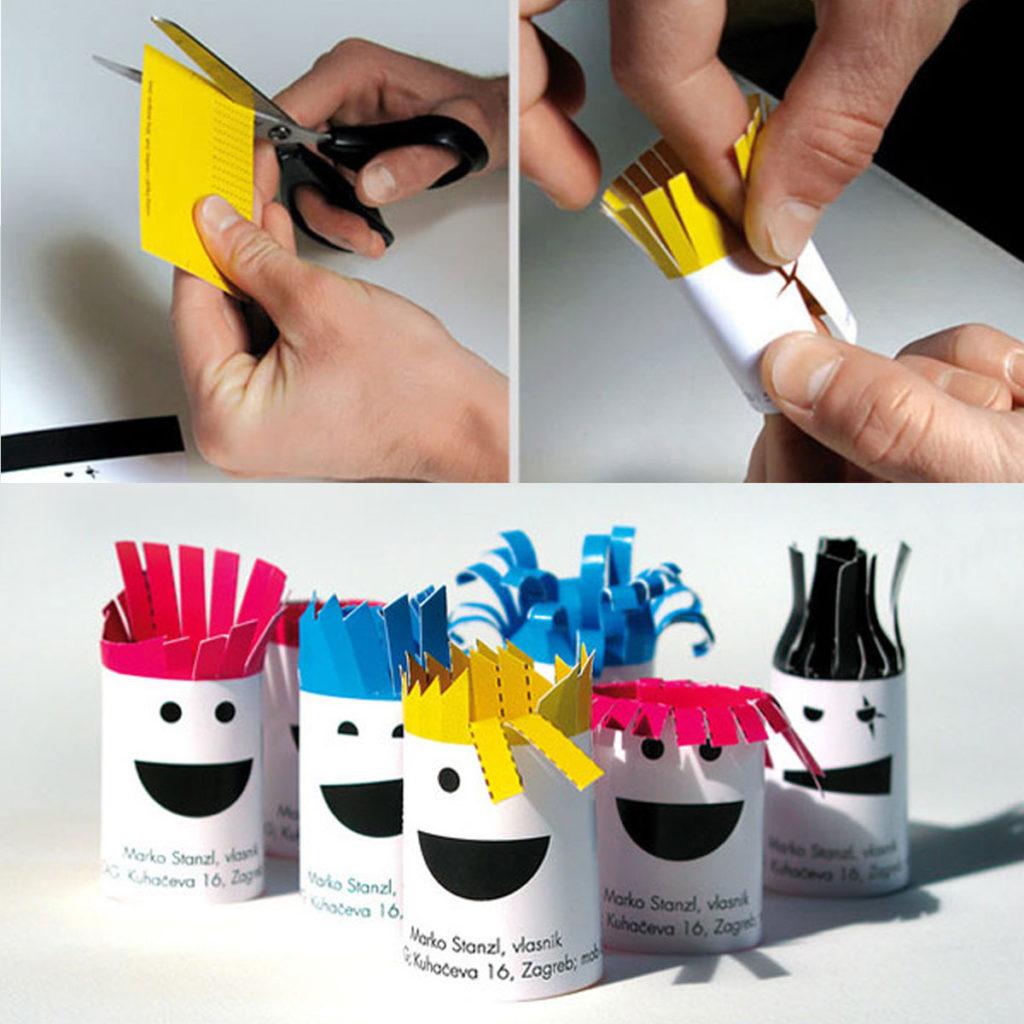 Креативная визитка трансформер дизайнера волос