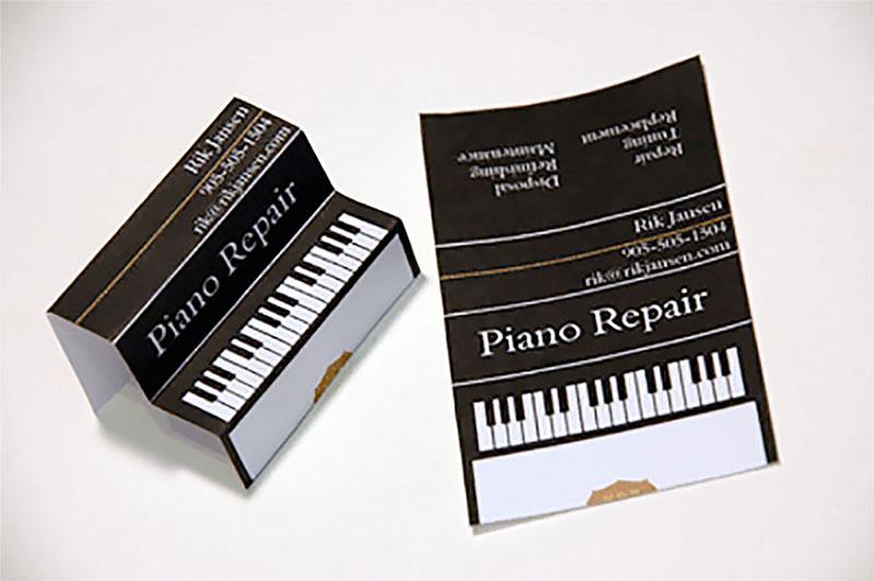 Визитка трансформер пианино