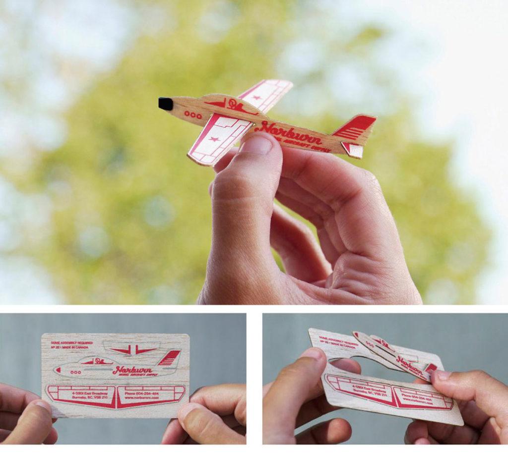 Визитка трансформер самолет