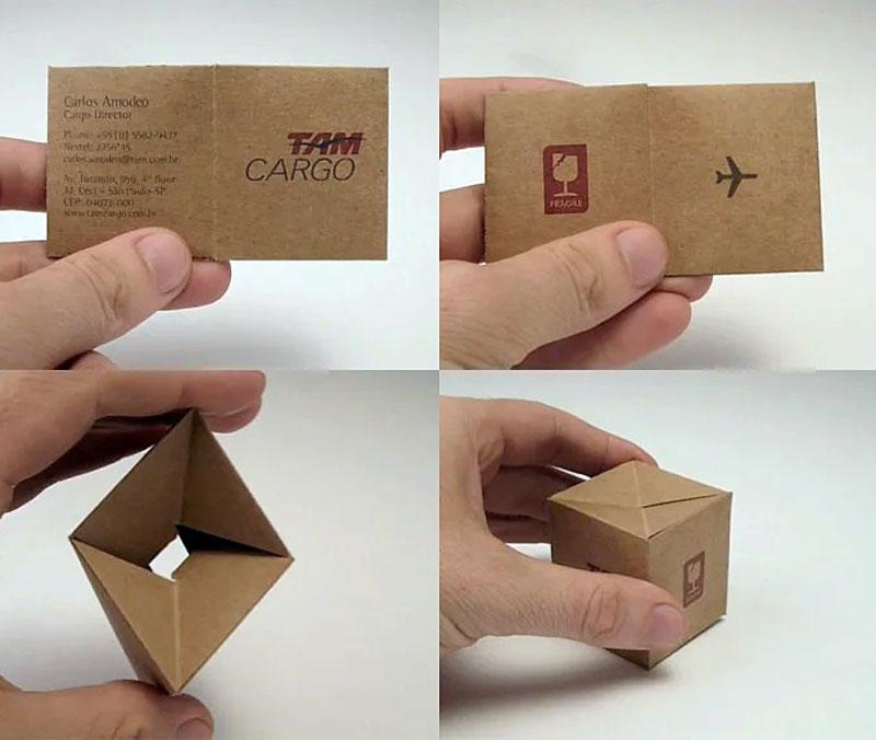 Визитка кубик, посылка