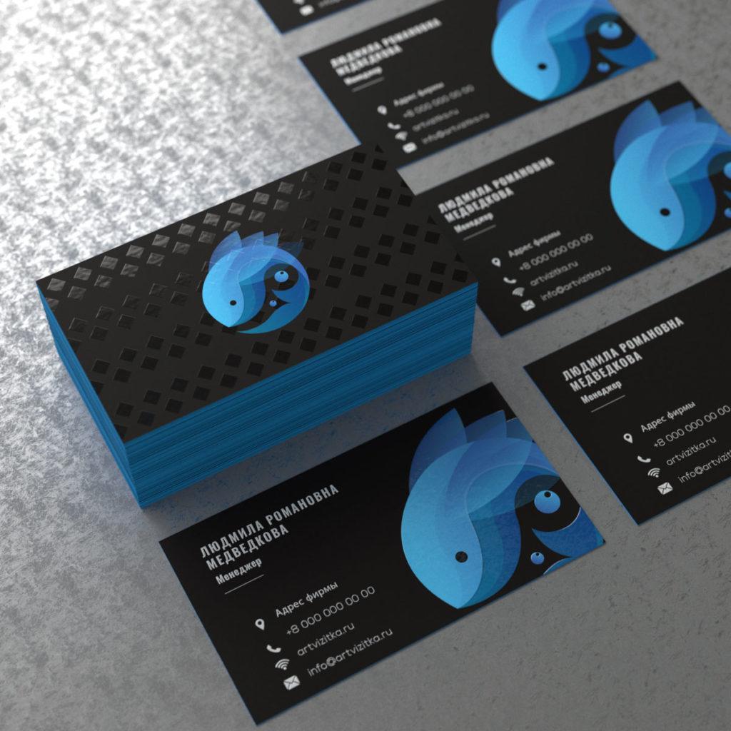 Печать визиток тач кавер методом УФ печати (ультрофиолетовой) она позволяет печать растра, белил и уф лака.