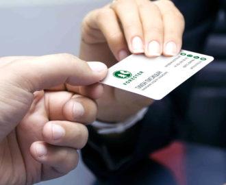 Вручение визитной карточки