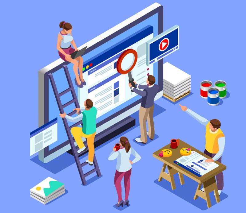 Разработка веб-дизайна и размещение рекламы в интернете.