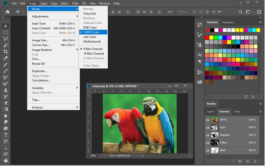 Цветовое пространство CMYK в фотошопе