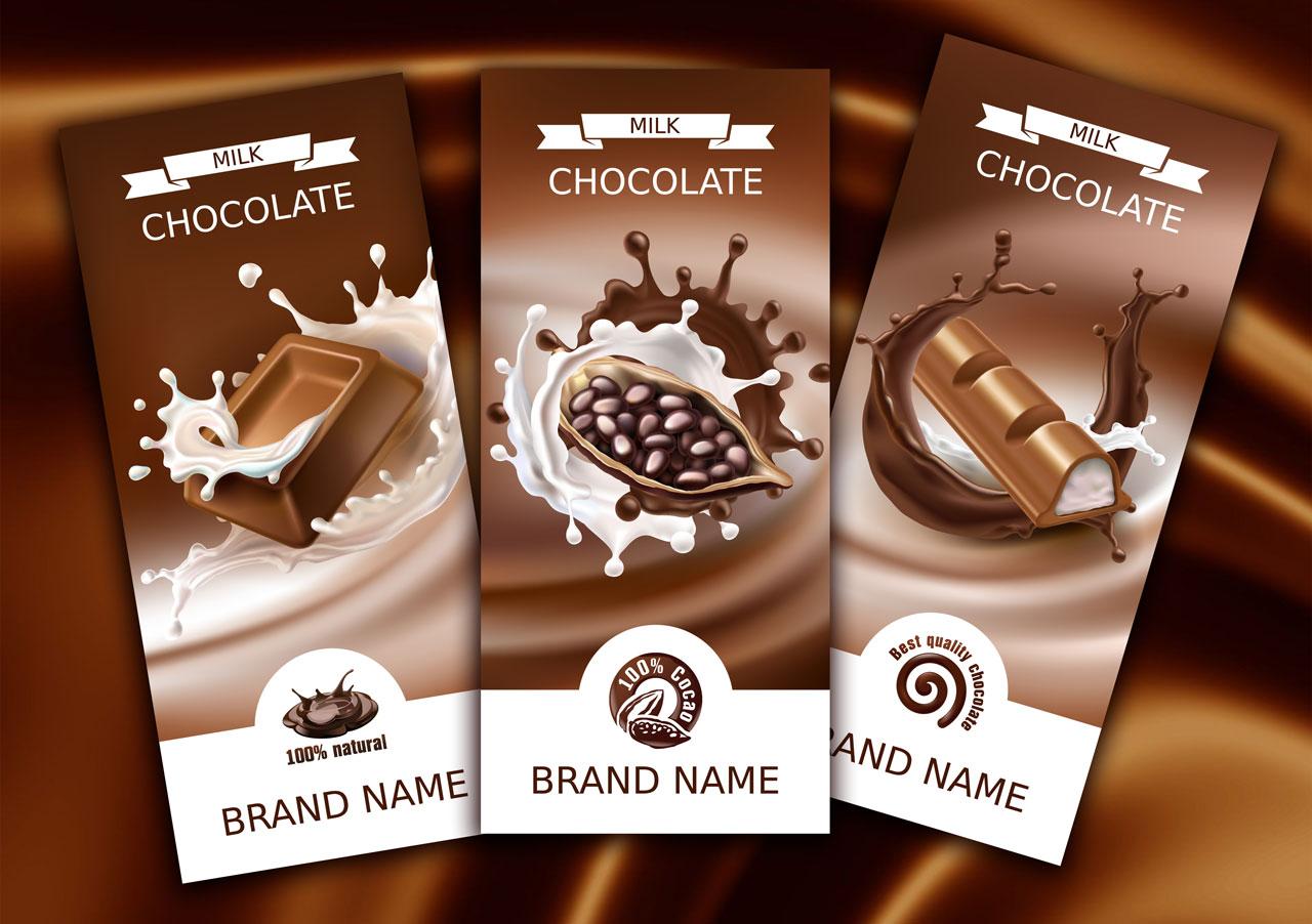 Дизайн обертки шоколада